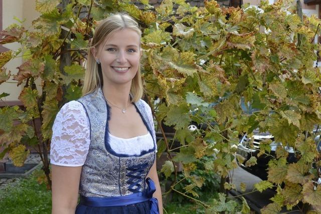 Elena Batzler aus Oberkirch, amtierende Ortenauer Weinprinzessin 2017/18