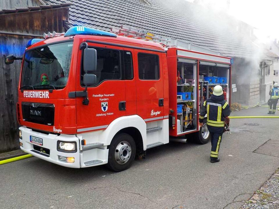 Die Kanderner Feuerwehr im Einsatz (Archivbild)  | Foto: Günter Lenke