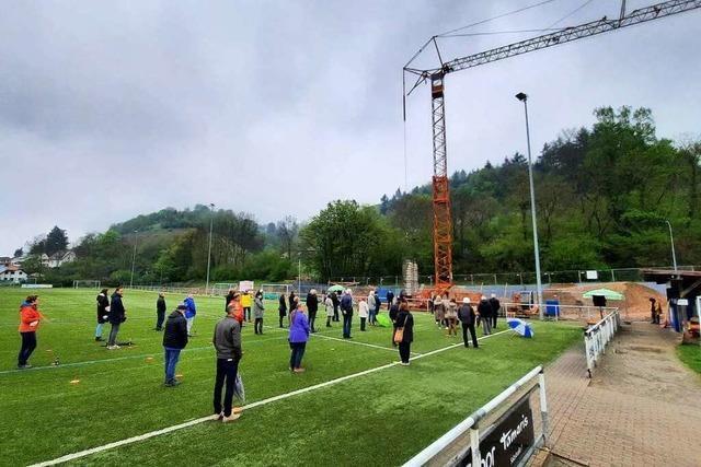 Fotos: VfR Merzhausen feiert Grundsteinlegung für das neue Vereinsheim