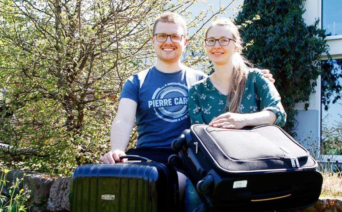 Manuel und Esther Stoll sind schon am Kofferpacken.  | Foto: Heidi Fößel
