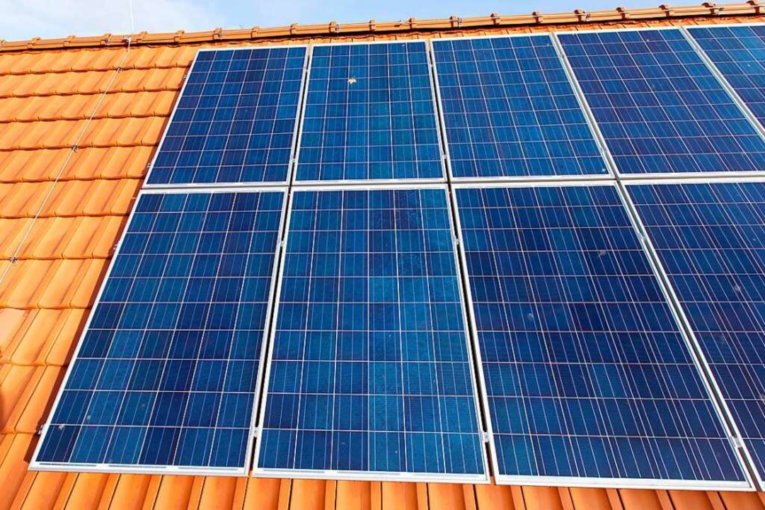 Fotovoltaik auf privaten Dächern wird gefördert.  | Foto: Friso Gentsch (dpa)