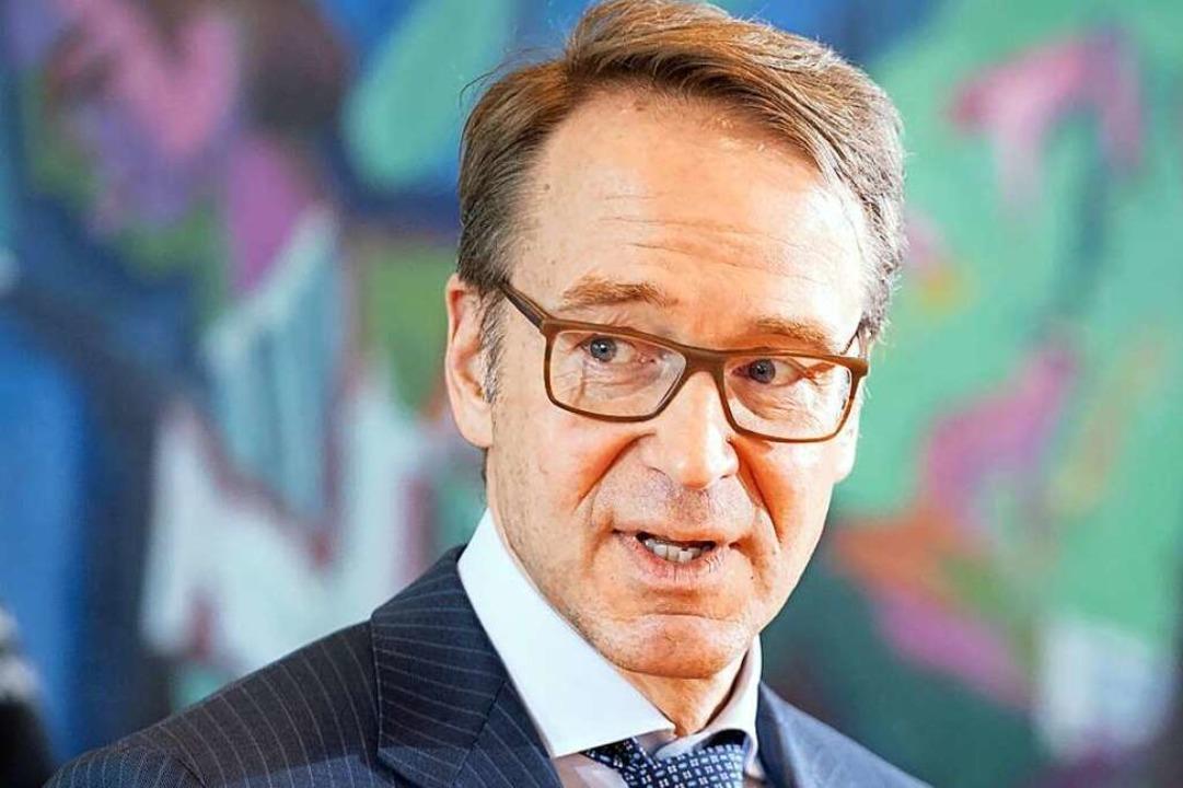 Jens Weidmann wird noch mindestens sec...ie Geschicke der Bundesbank bestimmen.  | Foto: Kay Nietfeld (dpa)