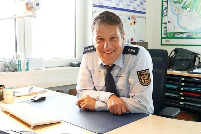 Der neue Leiter des Polizeipostens freut sich auf Grenzach-Wyhlen