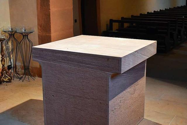Die Leutkirche in Oberschopfheim hat einen neuen Altar