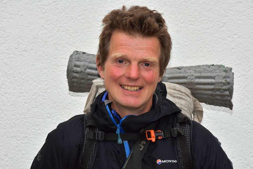 Gerald Klamer bei einem Zwischenstopp in Hinterzarten.    Foto: Thomas Biniossek