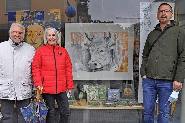 Kunstaktion in der Innenstadt