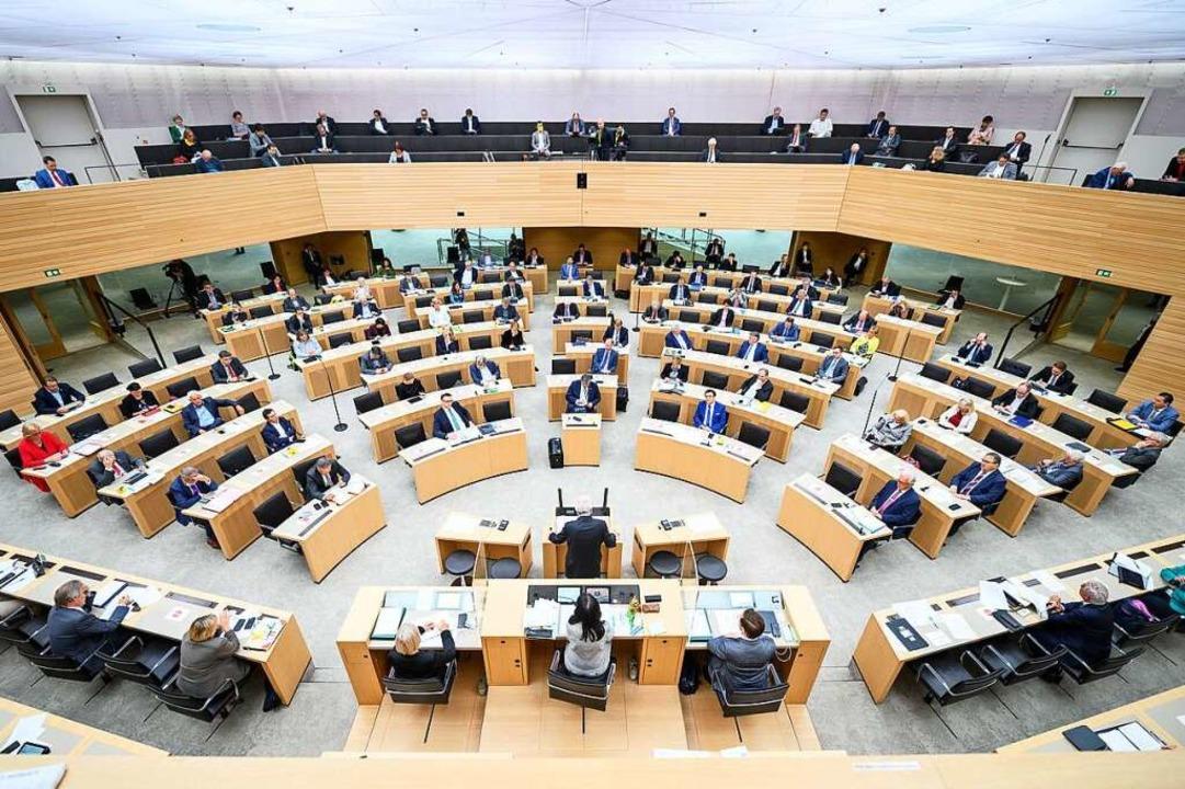 Der Landtag in Stuttgart.    Foto: Sebastian Gollnow (dpa)
