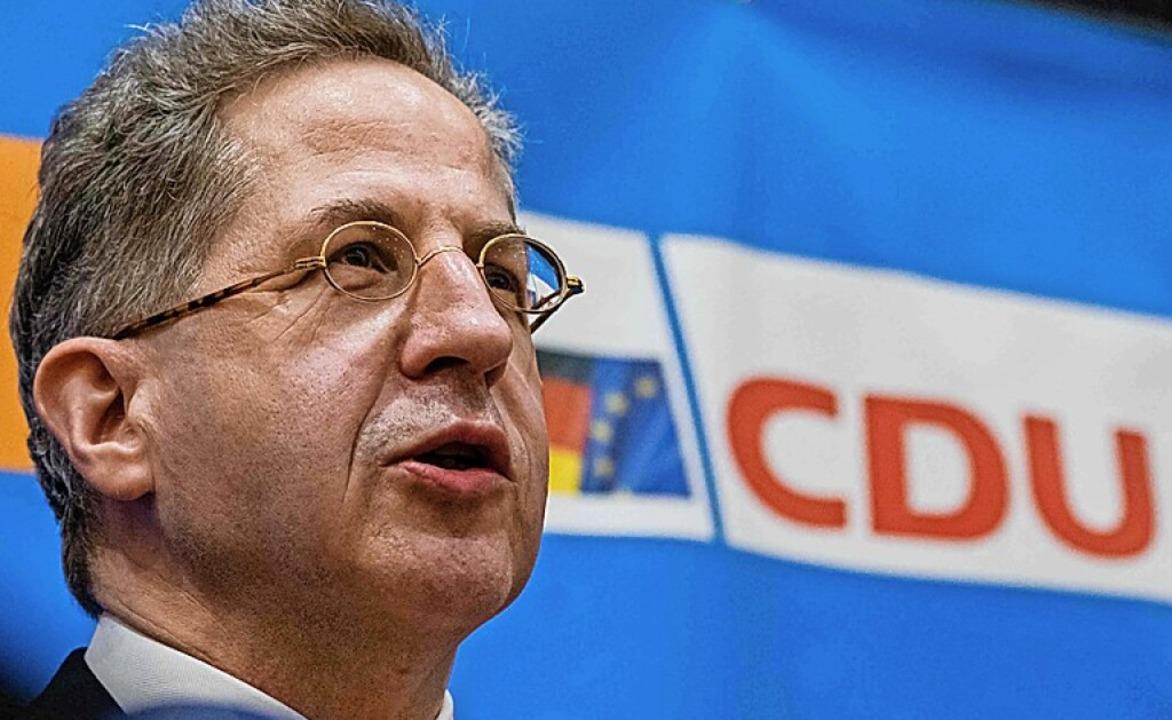 Hans-Georg Maaßen in Suhl  | Foto: JENS SCHLUETER (AFP)
