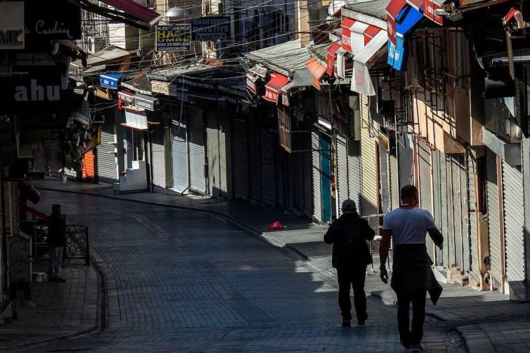 Bis zum 17. Mai wird die Türkei in einem vollständigen Lockdown sein.  | Foto: OZAN KOSE (AFP)