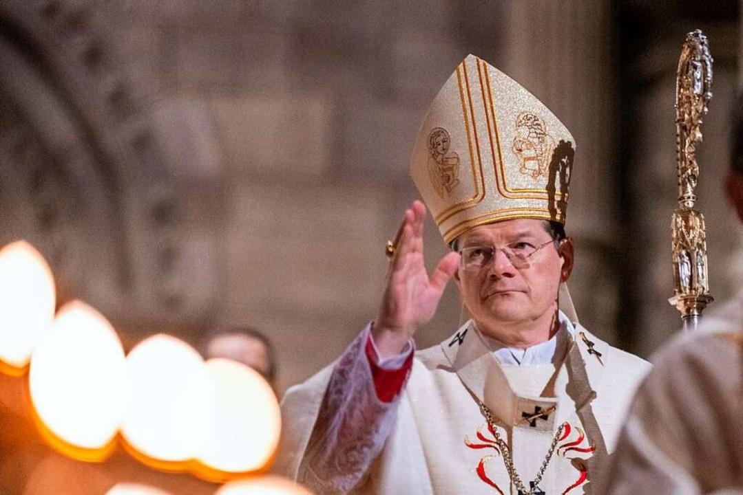 Freiburgs Erzbischof Burger (Archivbild)  | Foto: Patrick Seeger (dpa)