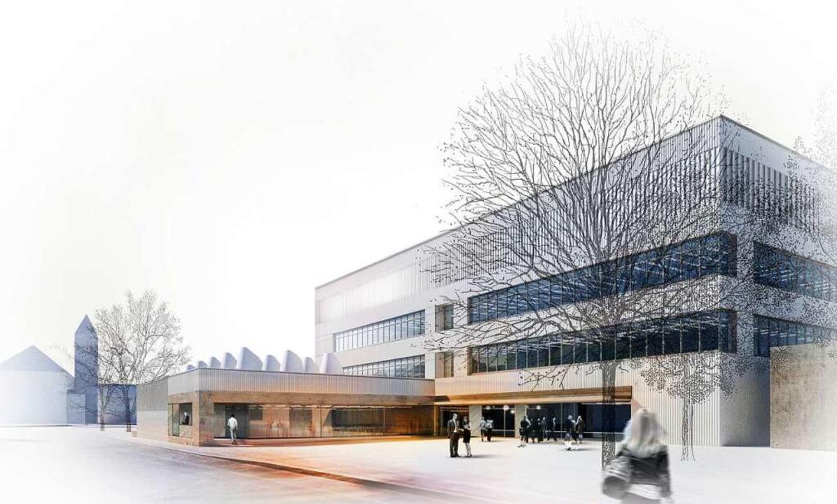 So wie auf dieser Illustration soll der geplante Neubau aussehen.  | Foto: kister scheithauer gross architekten u... (Finanzministerium Baden-Württemberg)