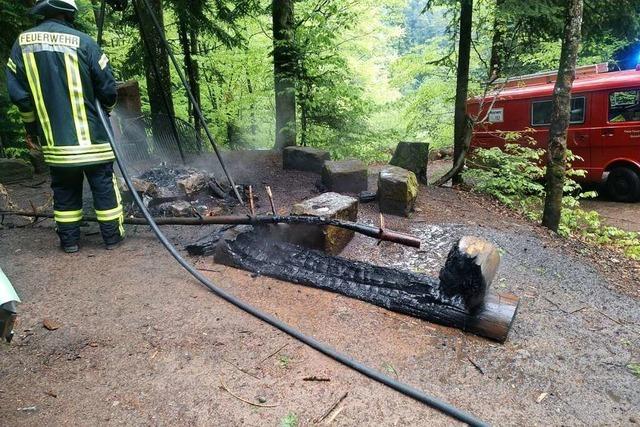 Unbekannte nutzen Holzbank als Feuerholz
