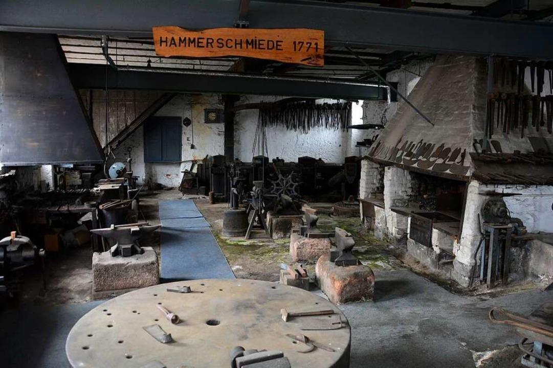 Vorreiter der Industrialisierung im Kr...e Hammerschmiede aus 1771 in Teningen.  | Foto: Trumpf