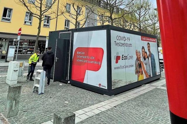 Testzentrum Senser Platz in Lörrach hat seinen Betrieb aufgenommen