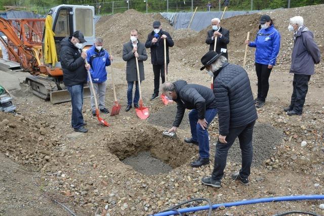 Jetzt kann der Rohbau für das neue VfR-Vereinsheim losgehen