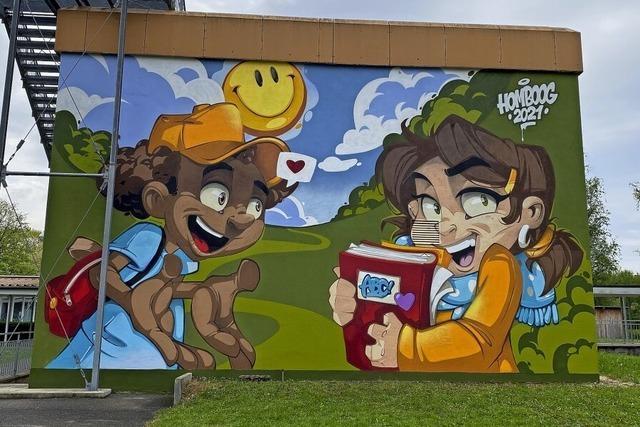 Neues Graffito an der Goetheschule