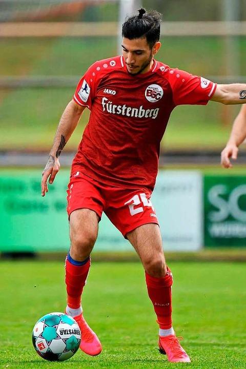 Mittelfeldspieler Ergi Alihoxha sieht ...Dienstag erst kurzfristig entscheidet.  | Foto: Claus G. Stoll