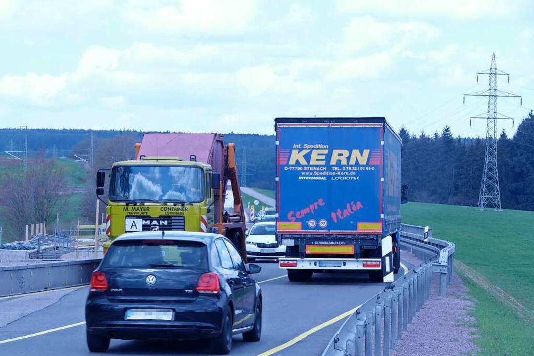 Die B31 zwischen Unadingen und Rötenbach wird im zweiten Halbjahr zur Baustelle.  | Foto: Martin Wunderle
