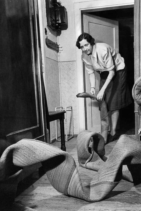 Wenn der Teppich zur Schlange wird<ppp></ppp>  | Foto: Leif Geiges, Archiv des IGPP, Sammlung Leif Geiges