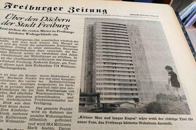 Das höchste Wohnhaus Freiburgs wurde in Frühsommer 1971 fertig