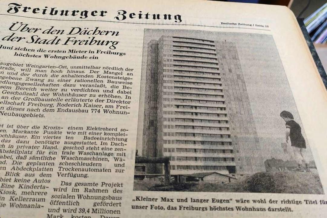 Den Gegensatz zwischen klein und groß ...rte das Foto zum damaligen BZ-Bericht.  | Foto: Moritz Neufeld