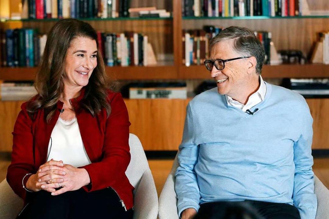 Melinda und Bill Gates, 2019. Jetzt trennt das Paar sich nach 27 Ehejahren.  | Foto: Elaine Thompson (dpa)