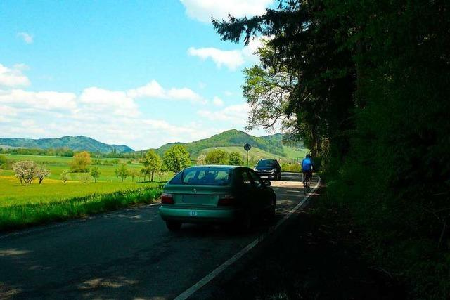 Sicherheit für Radfahrer zwischen Gundelfingen und Heuweiler kaum gewährleistet