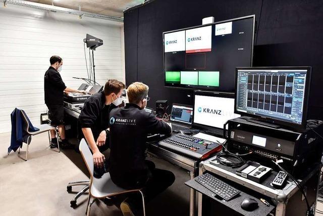 Corona beschert der Freiburger Firma Kranz Live ein neues Geschäftsfeld