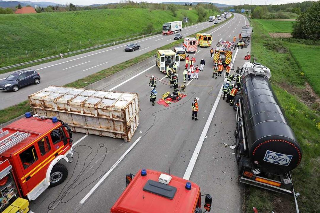 Die Unfallstelle  | Foto: Christoph Breithaupt