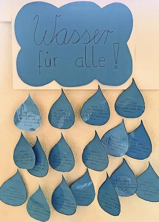 Die Schüler setzten ihre Gedanken zum ...äter als Dankeschön überreicht wurden.    Foto: Grundschule Gutach
