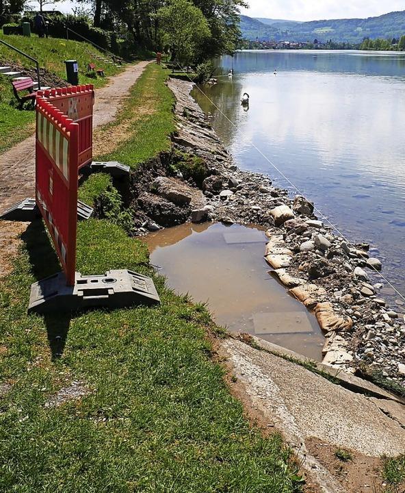 Erosionen haben dem Ufer beim Brennet-...n den Bereich verschönern und sichern.  | Foto: Michael Gottstein