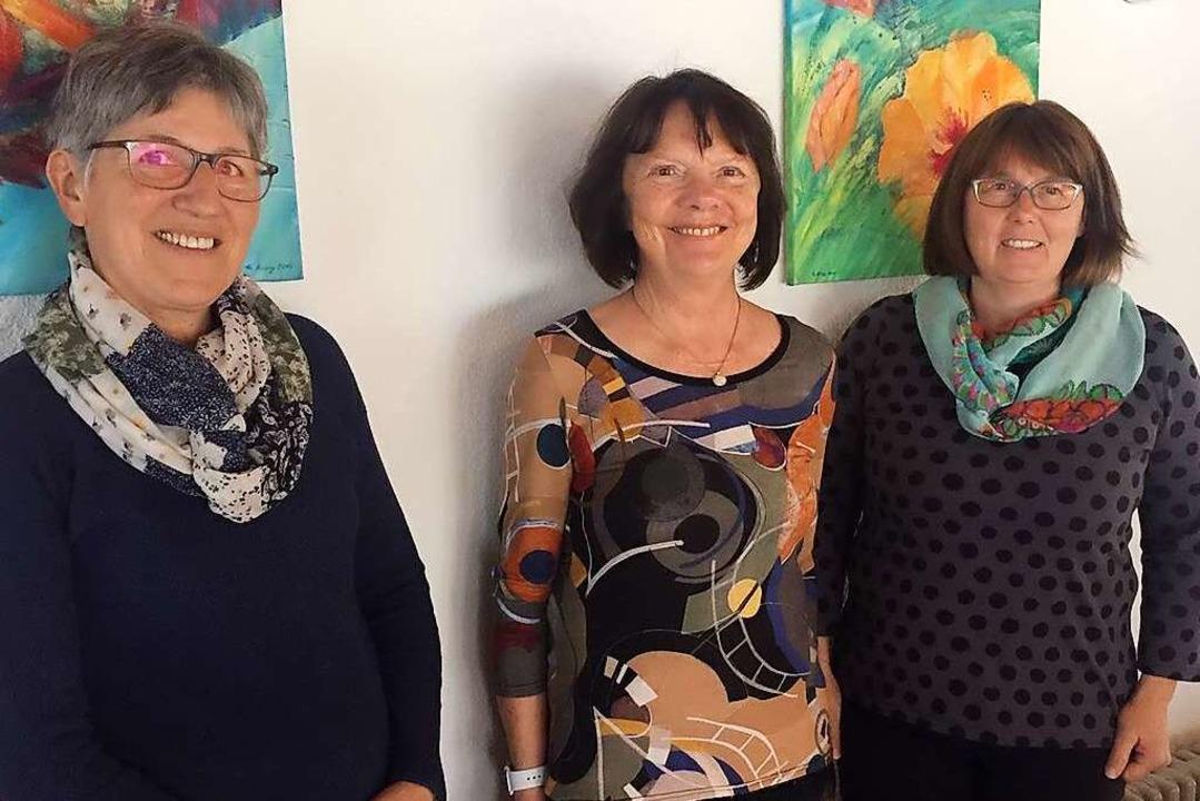 Der Verein Füreinander Miteinander set...h, Daniela Fiedler, Monika Pitschuch.     Foto: Ursula Harder