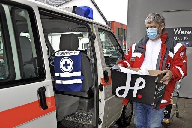 Auf Liefertour mit dem Roten Kreuz