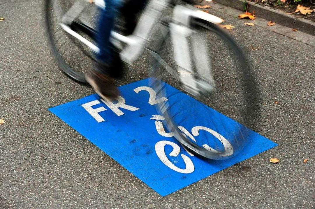Die Rad-Vorrangroute FR 2 wird gesperrt.  | Foto: Thomas Kunz