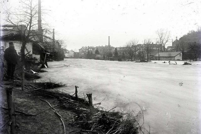 Beim Dreisam-Hochwasser vor 125 Jahren stürzte die Schwabentorbrücke ein