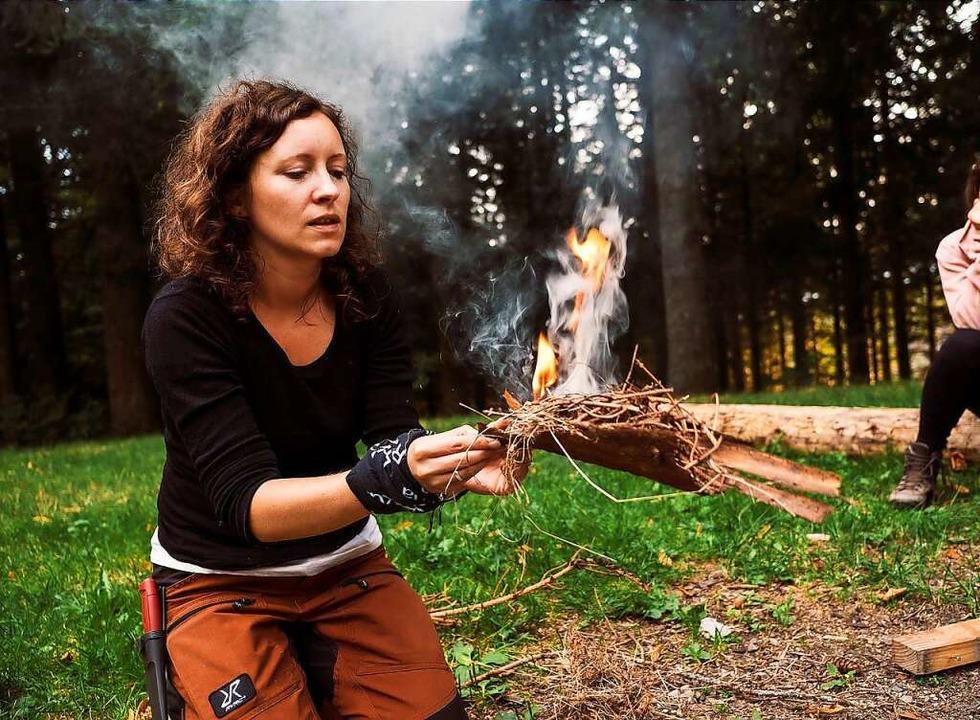 Ulrike Schoch hat sich selbstständig g...et Wildniskurse und Trekkingtouren an.  | Foto: Martin Frick