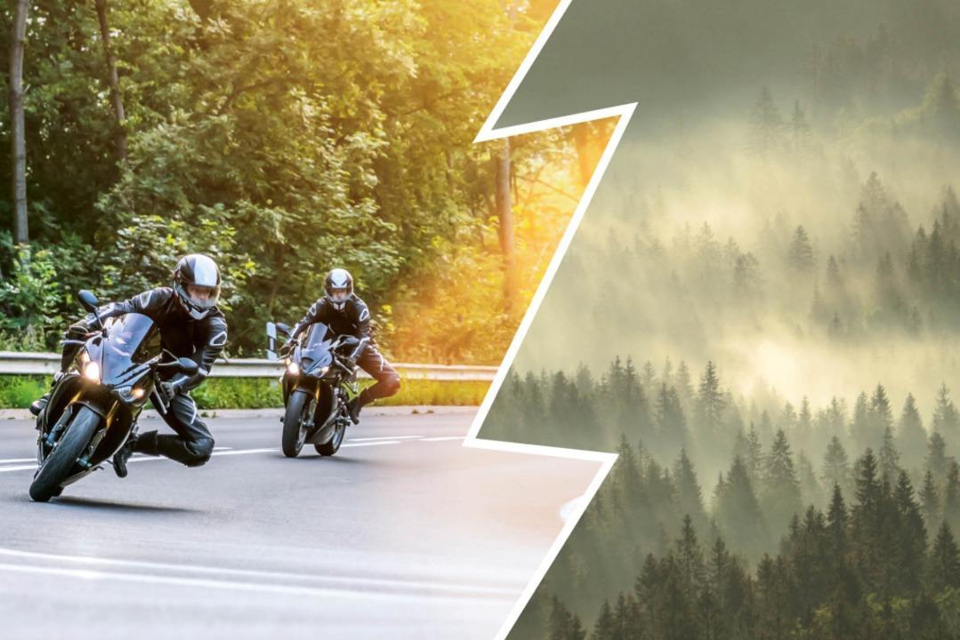 Lassen sich Motorräder und idyllische Waldstimmung miteinander verbinden?  | Foto: Schwarzwaldverein/Shutterstock