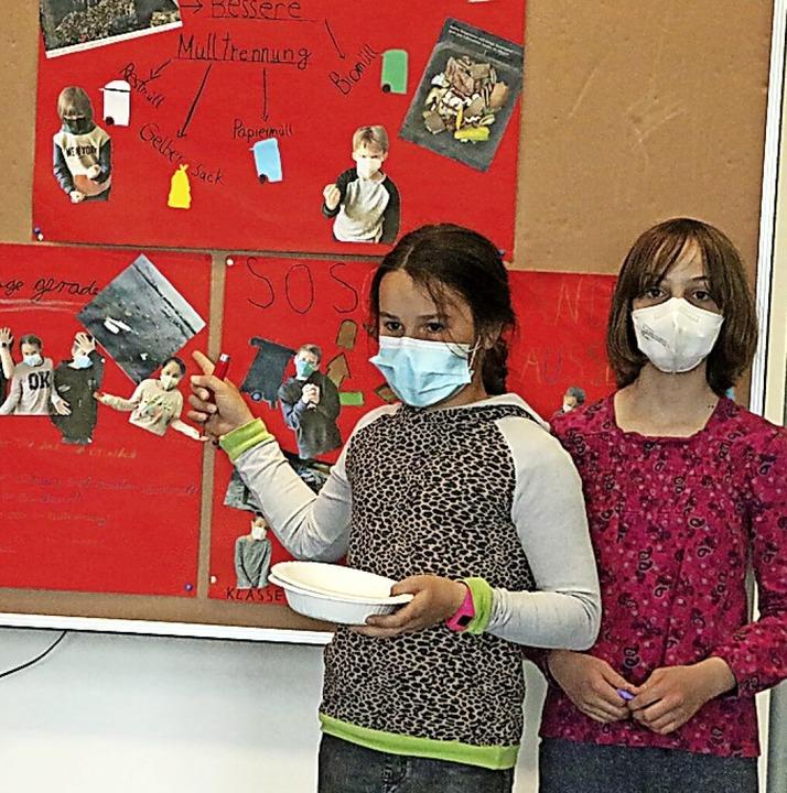Schüler  der 4a  fordern sie eine kons...nung auch an der Grundschule Bonndorf.    Foto: Martha Weishaar