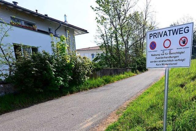 Wie privat ist ein Privatweg?