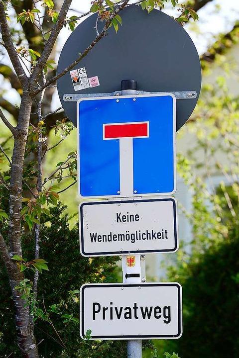 Auch der Weg von Spemannplatz ist als ...iesen – aber für Fußgänger frei.    Foto: Ingo Schneider