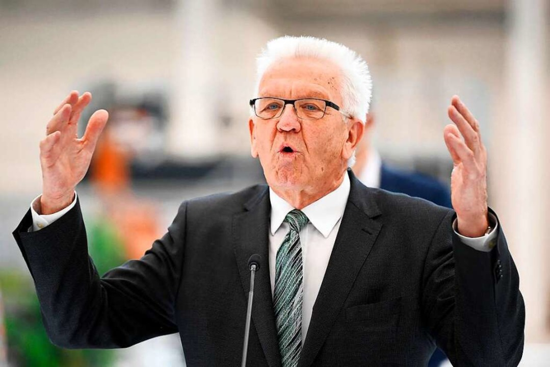 Sowohl Ministerpräsident Winfried Kretschmann, als auch <ppp></ppp>  | Foto: THOMAS KIENZLE (AFP)