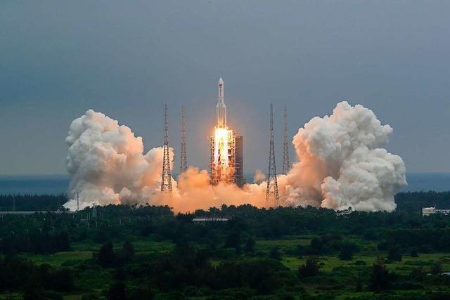 China weist Sorgen vor herabfallenden Raketenschrott zurück
