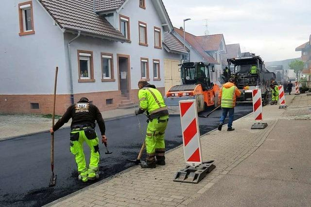 Mit der Baustelle in Seelbach geht es zügig voran
