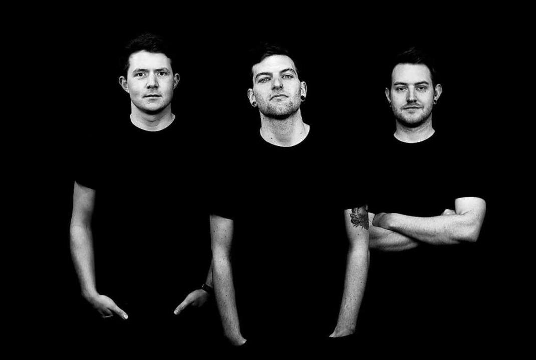 """Die Band """"Über ich"""":  Luka...mon Schindler (Mitte) und Daniel Weis.    Foto: Kevin Lesar"""