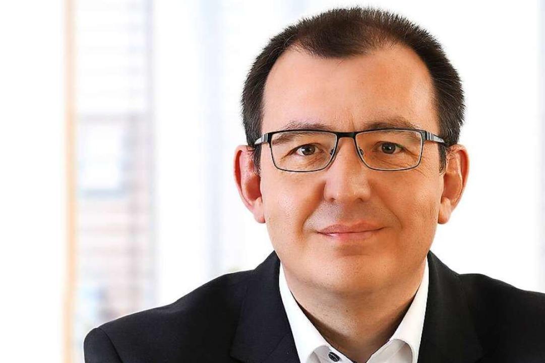 Christian Blum ist der neue Mann an der Spitze der Volksbank-Filiale Lörrach.    Foto: Juri Junkov