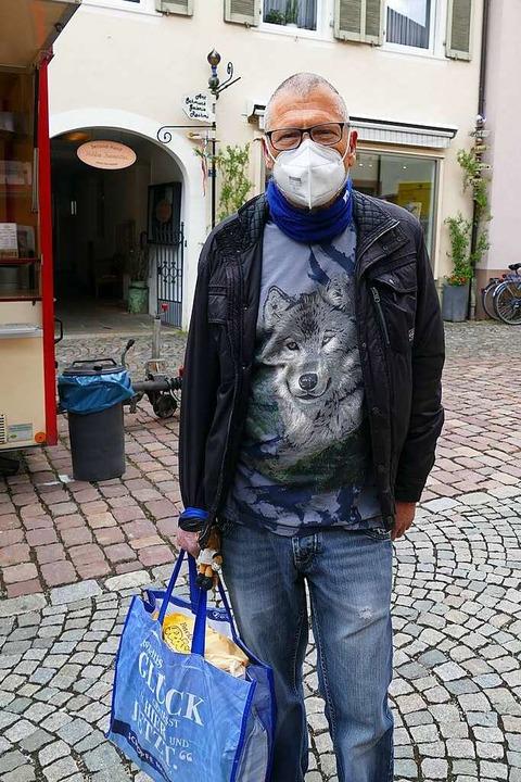 Lothar Volk (71), Waldkirch: Fleisch i...e ich es aber, so oft es geht, stehen.  | Foto: Savanna Cosma