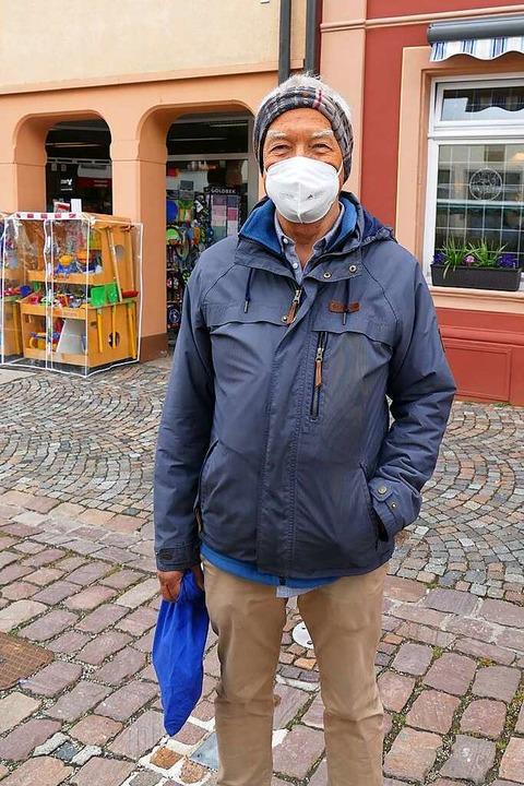 Martin Oechsle (69), Waldkirch: Es war...achte ich darauf, Energie einzusparen.  | Foto: Savanna Cosma
