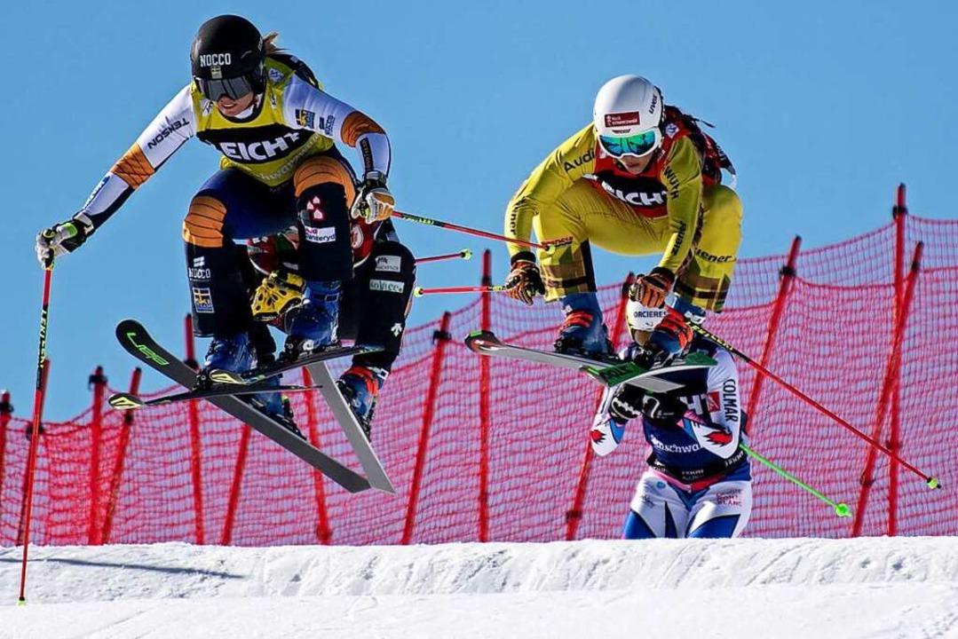 Damit sich Skicrosserinnen im Weltcup ...und der kostet die Gemeinde viel Geld.    Foto: Patrick Seeger