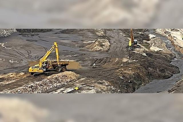 Sedimente werden im Becken gehalten