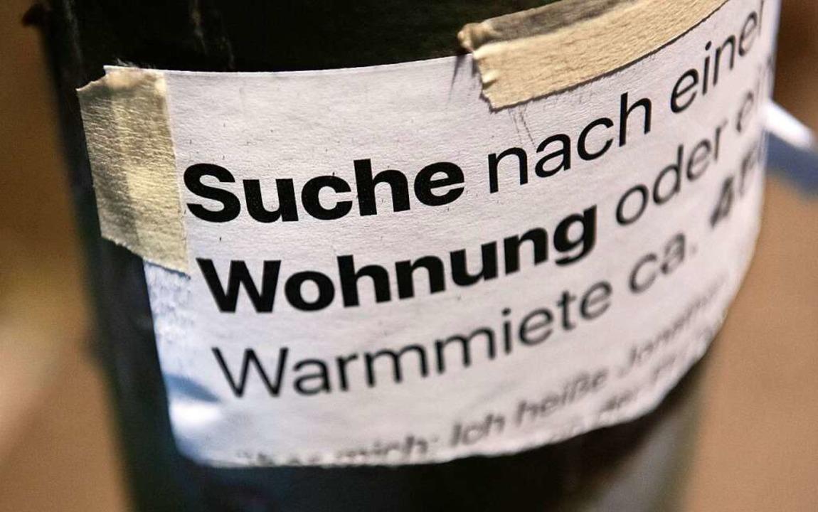 Wer in Freiburg eine Wohnung sucht, tu...inzwischen nicht mehr viel besser aus.  | Foto: Paul Zinken